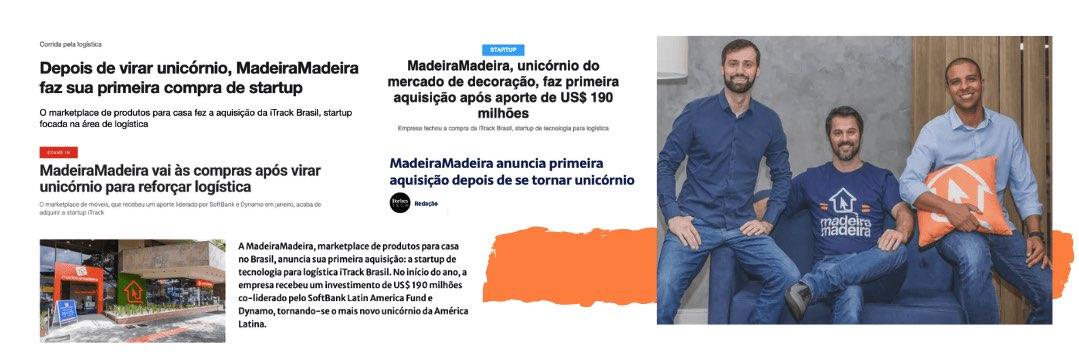 Marcelo Scandian, Daniel Scandian (CEO) e Robson Privado (COO), fundadores do MadeiraMadeira (Foto: Divulgação)