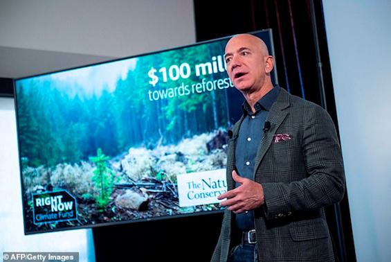 Jeff Bezos, CEO da Amazon, assume o compromisso de ser neutra em CO2 até 2040